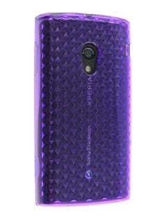 Diamond TPU Gel Case for Sony Ericsson Xperia X10 - Plum Purple Soft Cover