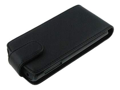 LG Optimus 7 E900 Synthetic Leather Flip Case - Black