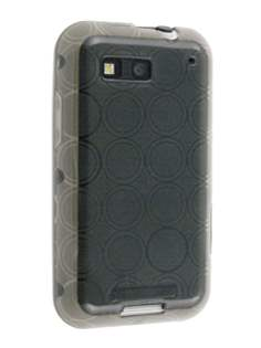 Motorola DEFY TPU Gel Case - Grey Soft Cover