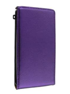 Synthetic Leather Flip Case for Sony Ericsson Xperia x10 - Purple