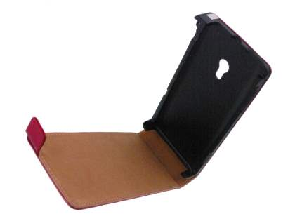 Synthetic Leather Flip Case for Sony Ericsson Xperia x10 - Red