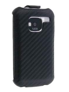 Nokia E5 Slim Synthetic Leather Flip Case - Classic Black