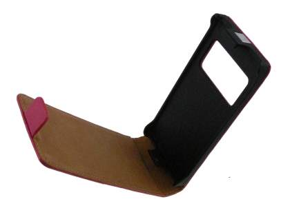 Synthetic Leather Flip Case for Nokia N8 - Hot Pink