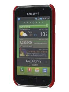 Samsung I9000 Galaxy S UltraTough Rubberised Slim Case - Maroon Red