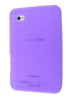 TPU Case for Samsung Galaxy Tab P1000 - Grape Purple Soft Cover