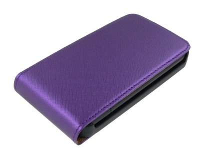 HTC Desire HD Slim Synthetic Leather Flip Case - Purple