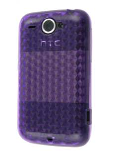 TPU Gel Case for HTC Wildfire G8 - Purple Soft Cover