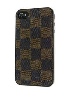 Designer Styled Back Case for iPhone 4 only - Brown