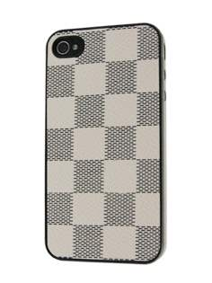 Designer Styled Back Case for iPhone 4 only - White