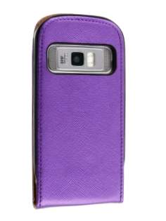 Synthetic Leather Flip Case for Nokia C7 - Purple Leather Flip Case