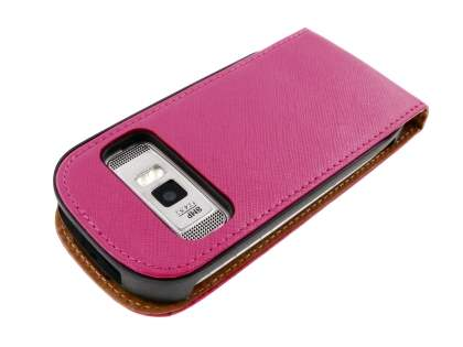 Synthetic Leather Flip Case for Nokia C7 - Pink