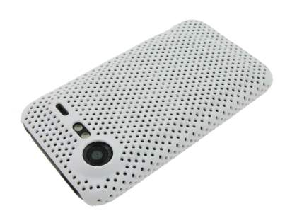HTC Incredible S Slim Mesh Case - White