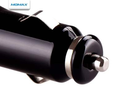 MOMAX Micro USB Super Car Charger & Data Cable for BlackBerry - Piano Black