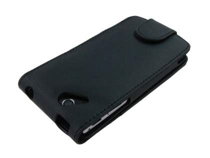 Sony Ericsson XPERIA Arc/Arc S Synthetic Leather Flip Case - Black
