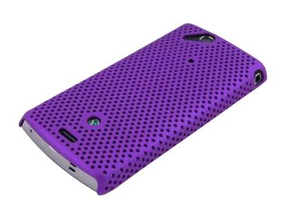 Mesh Case for Sony Ericsson XPERIA Arc/Arc S - Purple