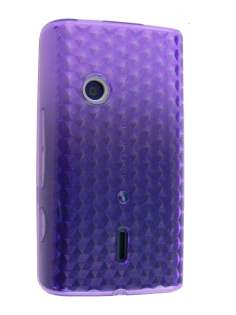TPU Gel Case for Sony Ericsson XPERIA X8 - Purple Soft Cover