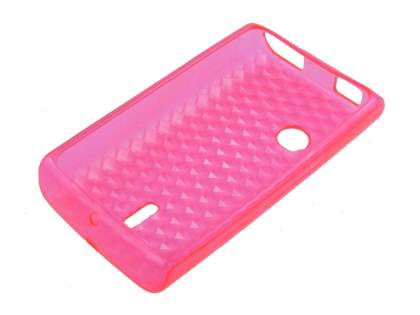 TPU Gel Case for Sony Ericsson XPERIA X8 - Pink