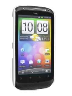 HTC Desire S UltraTough Rubberised Slim Case - White