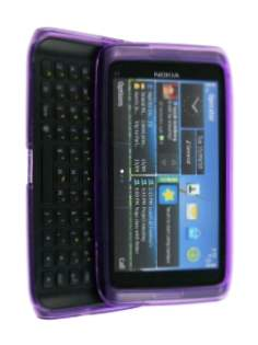 TPU Gel Case for Nokia E7 - Purple Soft Cover