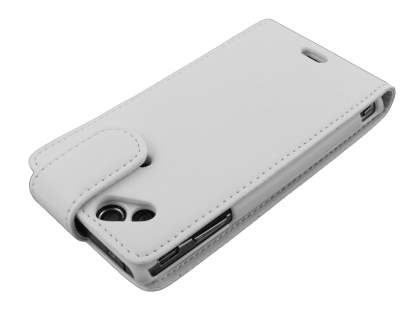 Sony Ericsson XPERIA Arc/Arc S Synthetic Leather Flip Case - White