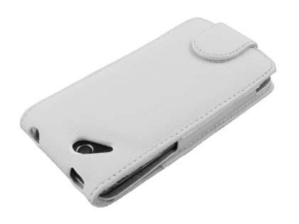 Synthetic Leather Flip Case for Sony Ericsson XPERIA Arc/Arc S - White