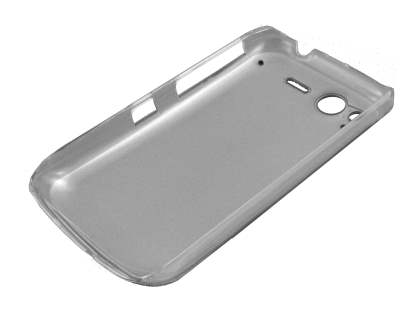 HTC Desire S Grain Plated Aluminium Case - Clear/Black