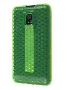 TPU Gel Case for LG Optimus 2X P990 - Green Soft Cover
