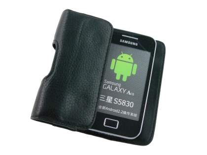 Samsung Galaxy Ace Synthetic Leather Belt Pouch