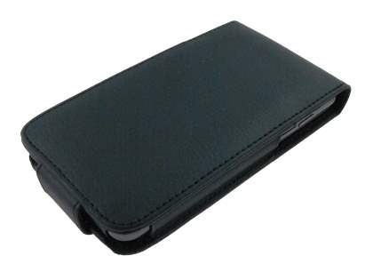 LG Optimus 2X P990 Synthetic Leather Flip Case - Black