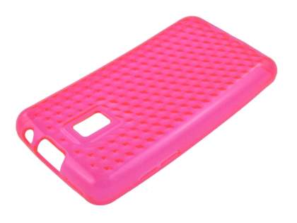 LG Optimus 2X P990 TPU Gel Case - Pink
