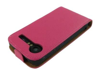 Synthetic Leather Flip Case for HTC Incredible S - Pink