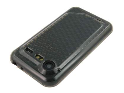 HTC Incredible S TPU Gel Case - Diamond Grey