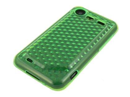HTC Incredible S TPU Gel Case - Diamond Green