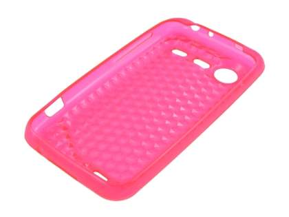 HTC Incredible S TPU Gel Case - Diamond Pink