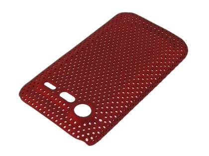HTC Incredible S Slim Mesh Case - Red