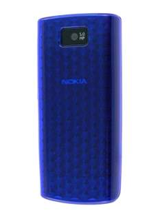 Nokia X3-02 TPU Gel Case - Diamond Blue Soft Cover