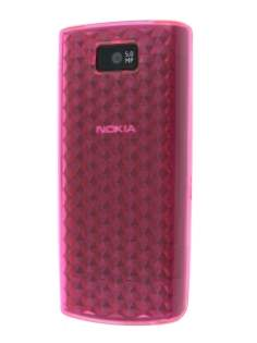 Nokia X3-02 TPU Gel Case - Diamond Pink Soft Cover