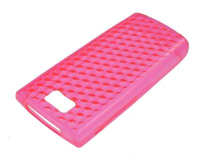 Nokia X3-02 TPU Gel Case - Diamond Pink