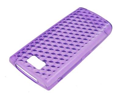 TPU Gel Case for Nokia X3-02 - Diamond Purple