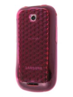 Diamond TPU Gel Case for Samsung Galaxy 580 - Hot Pink Soft Cover