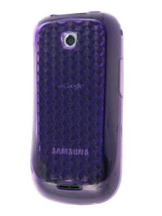 Diamond TPU Gel Case for Samsung Galaxy 580 - Purple Soft Cover