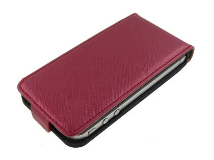 Synthetic Leather Flip Case for iPhone 4/4S - Red
