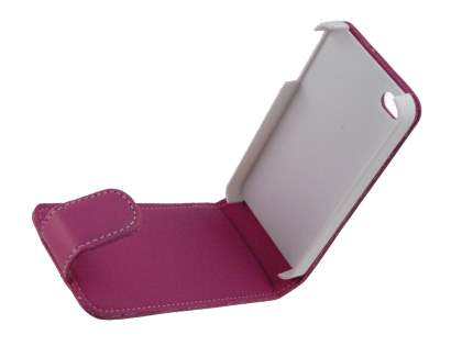 Synthetic Leather Flip Case for iPhone 4/4S - Pink