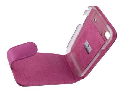 Samsung I9000 Galaxy S Genuine Leather Flip Case - Pink