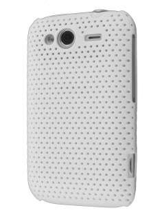 Slim Mesh Case for HTC Wildfire S - White Hard Case