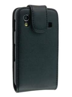 Synthetic Leather Flip Case for Samsung S5830 Galaxy Ace - Black