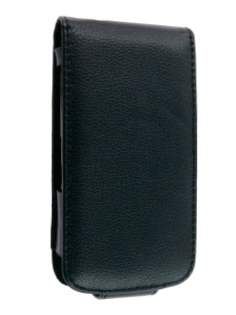 HTC Desire S Synthetic Leather Flip Case - Black