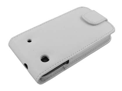 Samsung I9000 Galaxy S Synthetic Leather Flip Case - White