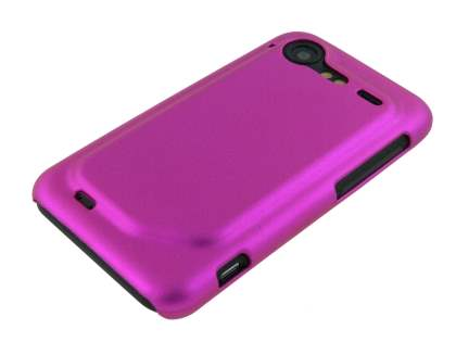 HTC Incredible S UltraTough Rubberised Slim Case - Hot Pink