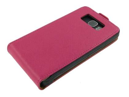 Synthetic Leather Flip Case for HTC Touch HD2 - Pink